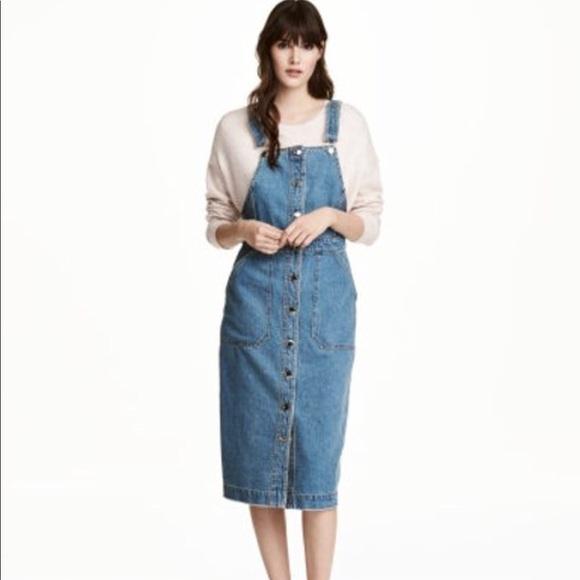 338f485b19 H M Dresses   Skirts - H M Denim Bib Overall Dress